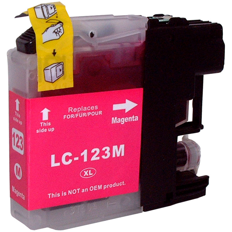 Cartouche jet d´encre Cartouche compatible BROTHER LC123-Magenta