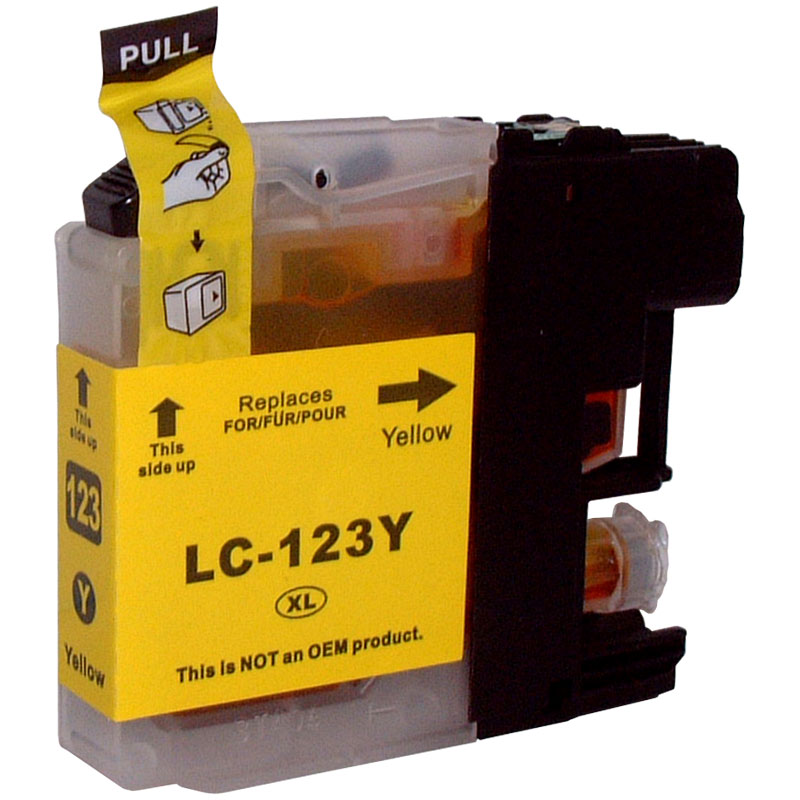Cartouche jet d´encre Cartouche compatible BROTHER LC123-Yellow