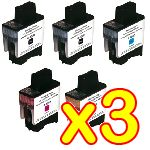 lot de 3 Packs Economique de 5 Cartouches Encre Brother 2 Noirs + 1 Cyan + 1 Magenta + 1 jaune